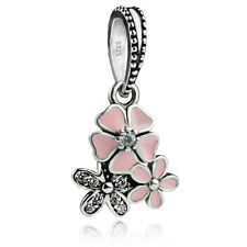authentic S925 sterling silver poetic blooms dangle European Charm for bracelet