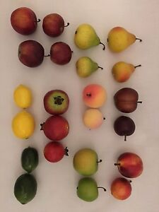 Artificial Love Fruit, Assorted, Bag of 24 Small Decorative Fake Fruit