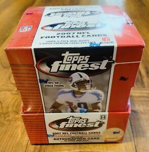 2007 Topps Finest Football Hobby Box Factory Sealed Chrome Peterson Calvin Lynch