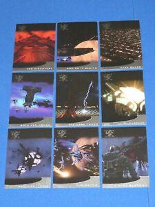 1998 BABYLON 5 SEASON 5 COMPLETE THIRDSPACE INSERT 9 CARD SET SKYBOX! T1-T9!