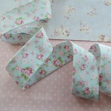Handmade Bias Binding High Tea Mini Floral Blue Tape Extra Wide 30mm = 2½ in