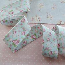 Handmade Bias Binding High Tea Mini Floral Blue Tape Extra Wide 30mm = 2½ in