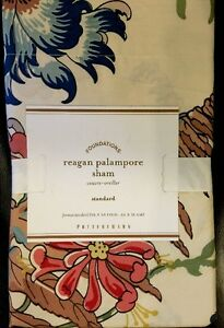 "Pottery Barn Reagan Palampore Standard 26 X 20"" Floral Cream New"
