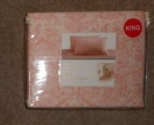 Jessica Simpson Dasha Damask Pink on Ivory 4 Piece King Seet Set NWT