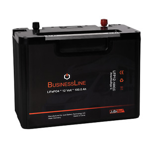 LiFePO4 Akku 12V 100Ah RV mit BMS (Batterie Management System)