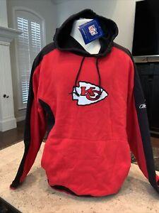 NWT Kansas City Chiefs NFL Sweatshirt Hoodie-Size XL Reebok Red Black