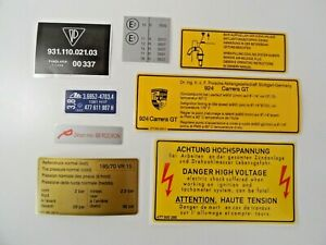 PORSCHE 924 Carrera GT 937 1980 210HP Under Bonnet Engine Bay Decal Sticker Set