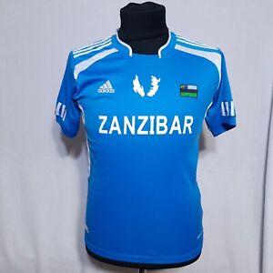 Adidas Climacool Mens Zanzibar Tanzania Blue Soccer Football Jersey Size L