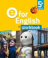 Workbook E for English 5ème A2 Cycle 4 de Rupert Morgan - Éditions DIDIER