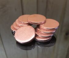 """Copper Disk Circle Blanks 1"""" Diameter 1/8'' Thick 10 Pieces"""