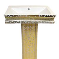 Goldenes Waschbecken Luxus Gold Becken Bad Waschtisch Luxus Gold Badezimmer
