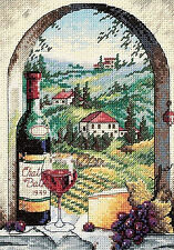 Cross Stitch Kit ~ Gold Collection Dreaming of Tuscany Italian Vineyard #6972