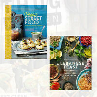 Vegan Street Food & A Lebanese Feast of Vegetables Collection 2 Books Set