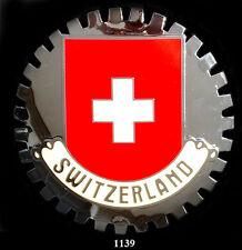 CAR GRILLE  EMBLEM  BADGES  -   SWITZERLAND(FLAG)