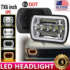 "Brightest 5X7"" 7x6 inch Rectangle LED Cree Headlight DRL for Toyota Pickup Truck"