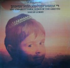 yiddish jewish holocaust LP-sarah gorby- the unforgettable songs of the ghetto
