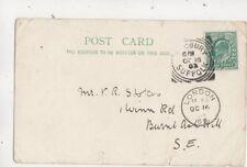 Mr VR Stokes Winn Road Burnt Ash Hill SE London 1903 658b