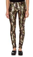 BCBG MAXAZRIA Leggins mimetico camouflage militare paillettes €458 Alta Moda