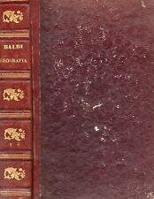 COMPENDIO DI GEOGRAFIA ADRIANO BALBI CHAUCHARD, MUNTZ NAPOLI 1856 (VA806)