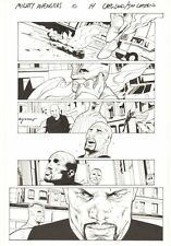 Mighty Avengers #10 p.14 - Falcon and Luke Cage - 2014 Signed art by Greg Land