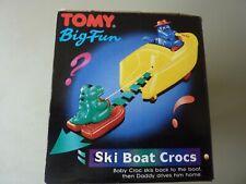 VINTAGE 1991 TOMY : SKI BOAT CROCS Preschool Children's Bath Toy :  NEW/BOXED
