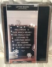 Letter Board Set Rustic Frame - 378 White Characters