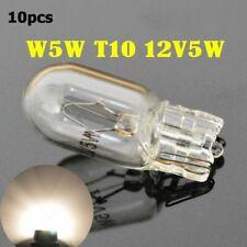 10pcs 12V T10  W5W Halogen Interior Side Light Marker Dashboard Dash Bulb Clear