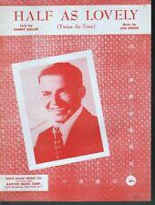 Half As Lovely Sheet Music Frank Sinatra Song 1954 Mint