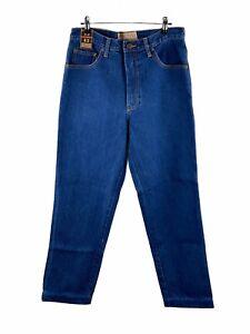 Bulls Head NEW Denim Junkyard Jean Men Size 32 Blue Classic Fit Zip Close Pocket