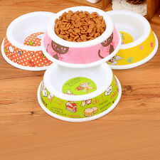 * Cute Pet Dog Cat Puppy Slow Down Eating Feeder Feed Bowl Food Water Dish &L