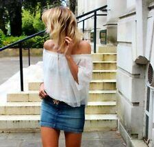 Roberto Cavalli Runaway Denim Jeans Mini Skirt Size I 38 UK 6 US 2 XS