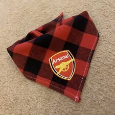 Football Bandana Arsenal Dog Bandana Tie Around Neck Dog Bandana Size Medium