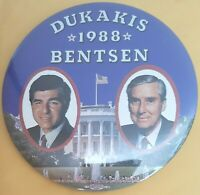 Presidential Pin Back Campaign Button Lloyd Bentsen Beryl For First Lady 1976