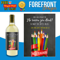 Personalised Wine bottle label,Teacher Reason you drink, Christmas,Any occasion