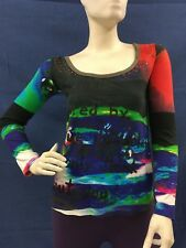 Desigual Inspired by Cirque Du Soleil Long sleeved Top Size M
