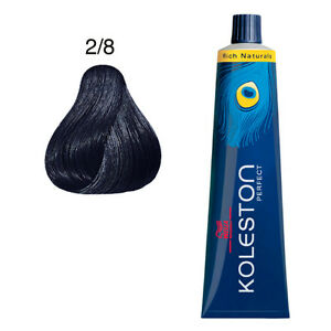 Wella Koleston 2/8 Blue Black Perfect Hair Color 60 ml each tube