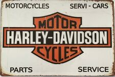 HARLEY Rustic Look Vintage Tin Metal Sign Man Cave, Shed-Garage & Bar Sign