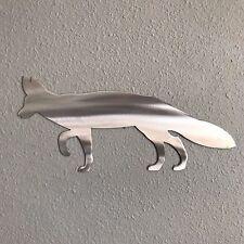 Fox Aluminum Metal Wall Art Skilwerx 14 x 6 Wild Life