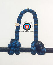 2 Pack-Speckled  Electric Blue/Black  Archery Release Bow String D Loop, BCY #24
