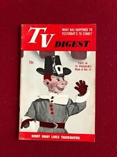 """1951, Howdy Doody, """"TV DIGEST"""" (No Label)  RARE  (Thanksgiving Edition)"""
