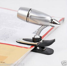 New Stylist Book Light Mini Clip-on LED Lamp Kindle Nook Reading Light