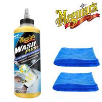 Meguiar's Wash Plus+ 709ml & 2 Microfibre Towels