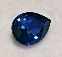 Sapphire Blue Natural Genuine Earth Mined Untreated Pear Cut 6.5 x 5mm  0.9ct.