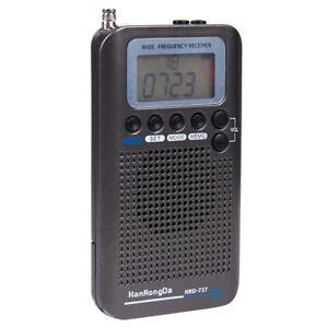 Airband Radio Receiver Portable Radio FM/AM/SW/AIR/CB/VHF Band Receiver Wide