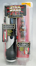 1999 Star Wars Episode I Phantom Menace C-3Po Collector Watch Lightsaber Case