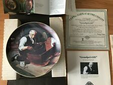 Grandpa's Gift Collectible Plate by Norman Rockwell First Issue Golden Moments