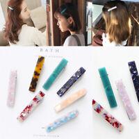 Newly Women Acid Acrylic Long Barrettes Hair Clip Hairpin Hair Pin Accessories