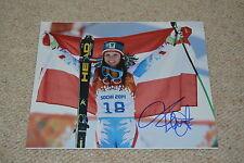 ANNA FENNINGER signed Autogramm In Person 20x25 cm OLYMPIA Gold Ski Super-G
