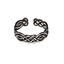 Toe Ring .925 silver girls adjustable open foot beach celtic knotwork feeanddave