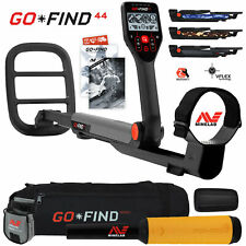 Minelab Go Find 44 Metal Detector with Pro Find 15, Black Carry Bag, Finds Pouch